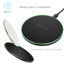 Qi Wireless Charger Charging Pad 10W Fast Charger For Samsung Galaxy S8 Plus S7 S7 Edge S6 Edge Note 8 Lumia 920 iPhone X 8 Plus купить недорого в Москве