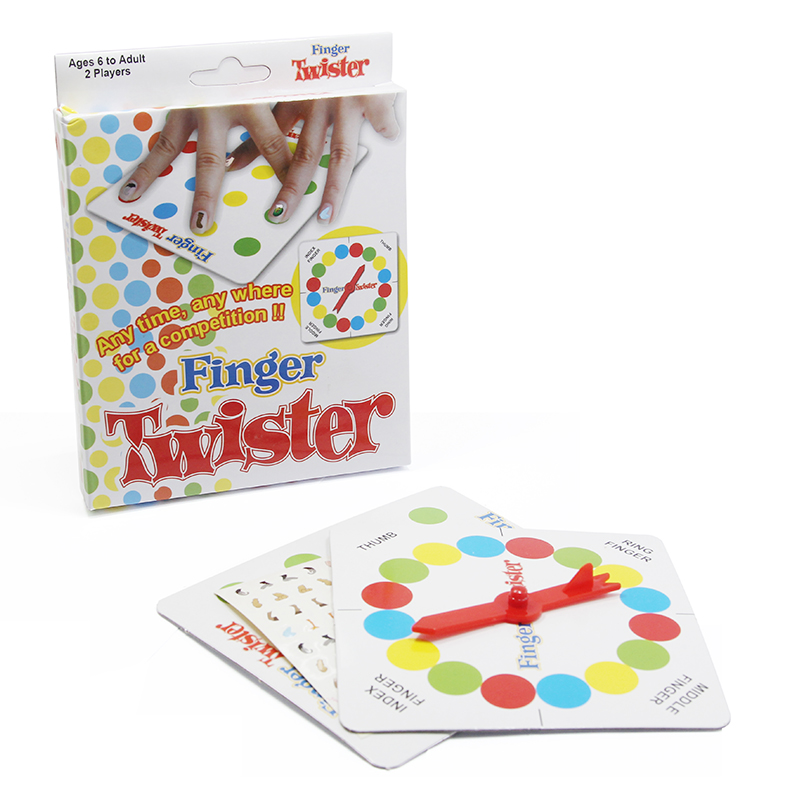 Finger Twister! Dance on Fingers Toys Multiplayer Game Family Funny Entertainment Board Game Fun Poker Playing Cards Gift Box penguin trap on ice interactive family game