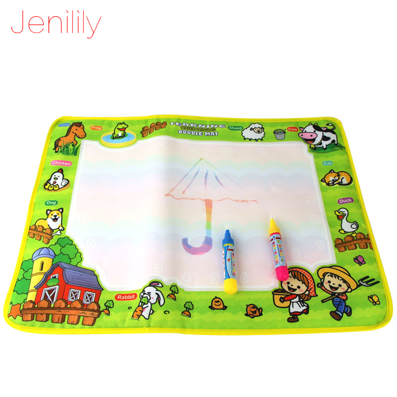 все цены на 50x36cm Baby Kids Add Water with Magic Pen Doodle Painting Picture Water Drawing Play Mat in Drawing Toys Board Gift Christmas