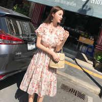 2019 ropa de mujer de manga corta Maxi vestido de gran tamaño caftán camisa vestido más verano