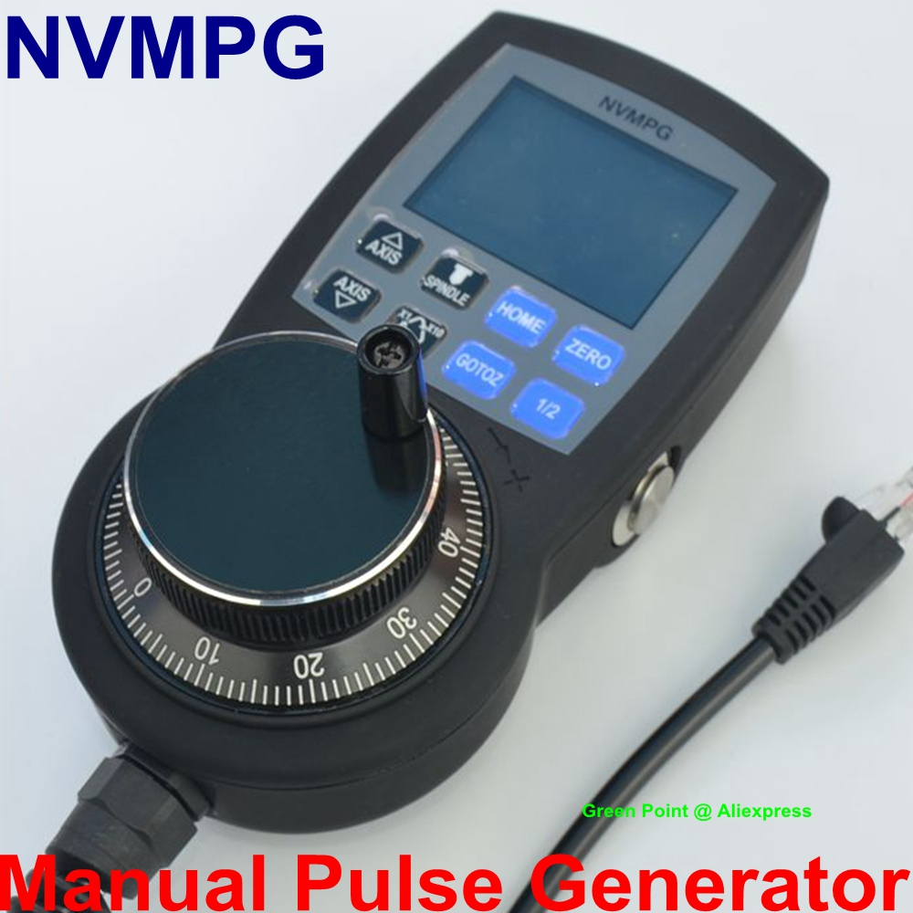 NVMPG CNC 6 Axis MPG Mach3 Manual Pulse Generator with Handwheel LCD Full Serial Communication NVUM