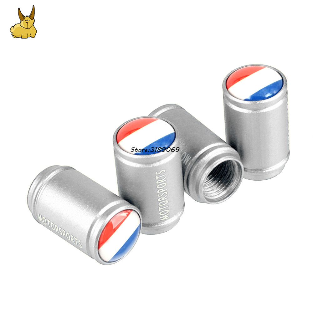 France Flag Emblem Car Dull Polish Wheel Tire Valve Caps Cover for smart Peugeot Renault CLIO Audi A1 MINI Cooper Fiat 500 opel