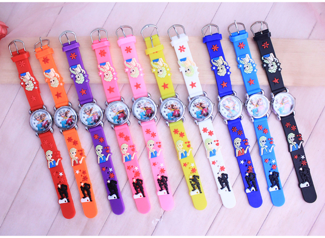 10pcs/lot cartoon Princess Watch Quartz Women Clock Cartoon Watches Children Rel