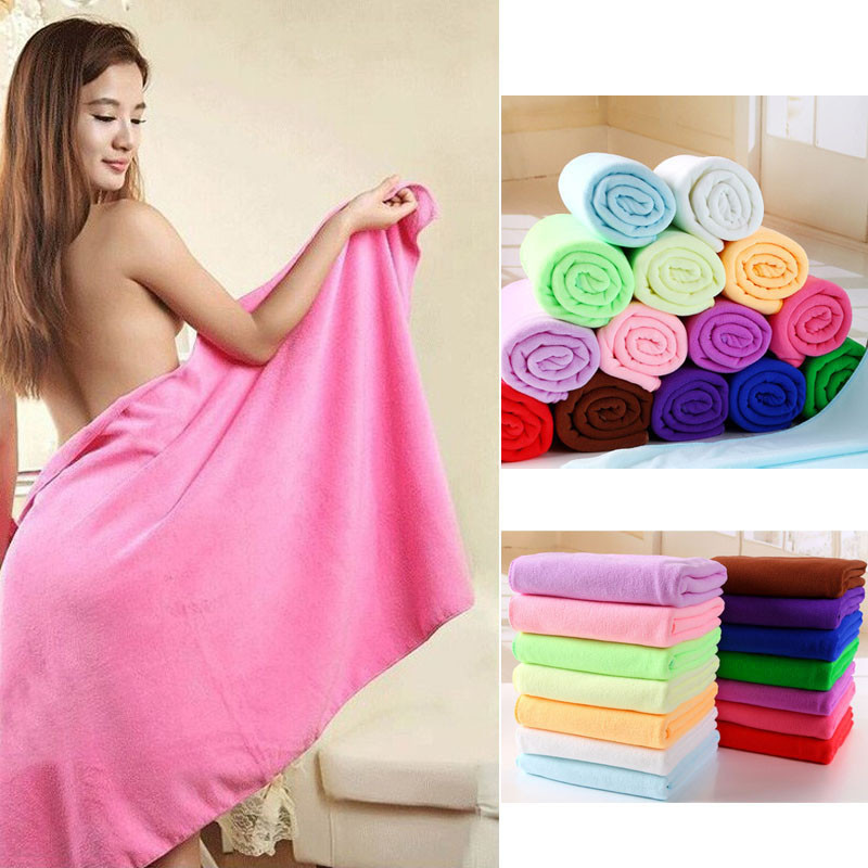 shop with crypto buy 70 x 140 cm Fiber De Bambou Microfibre Sechage Rapide Douche Bath Towel Douce Super Absorbant Home Textile Large Thick Towel pay with bitcoin