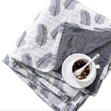 Cotton Gauze Towel Muslin Blanket Soft Throw Plaid For Adults On The/Bed/Sofa/Plane/Travel Bedspread(China)