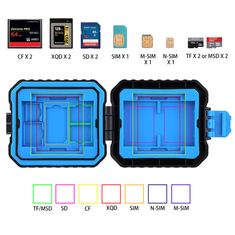 Image 4 - Camera Memory Card Case Holder Waterproof  XQD CF TF SD Card Box Storage Package Card Cases-in Memory Card Cases from Computer & Office