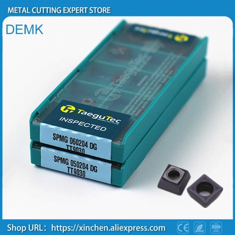 Knife SPMG 060204 DG TT9030 10pcs for Taegutec CNC U type fast drill bit Carbide blade