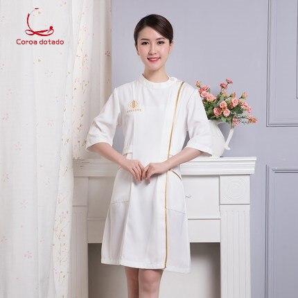 Beautician work clothes female summer new style beautician nurse Korean dress tattooist
