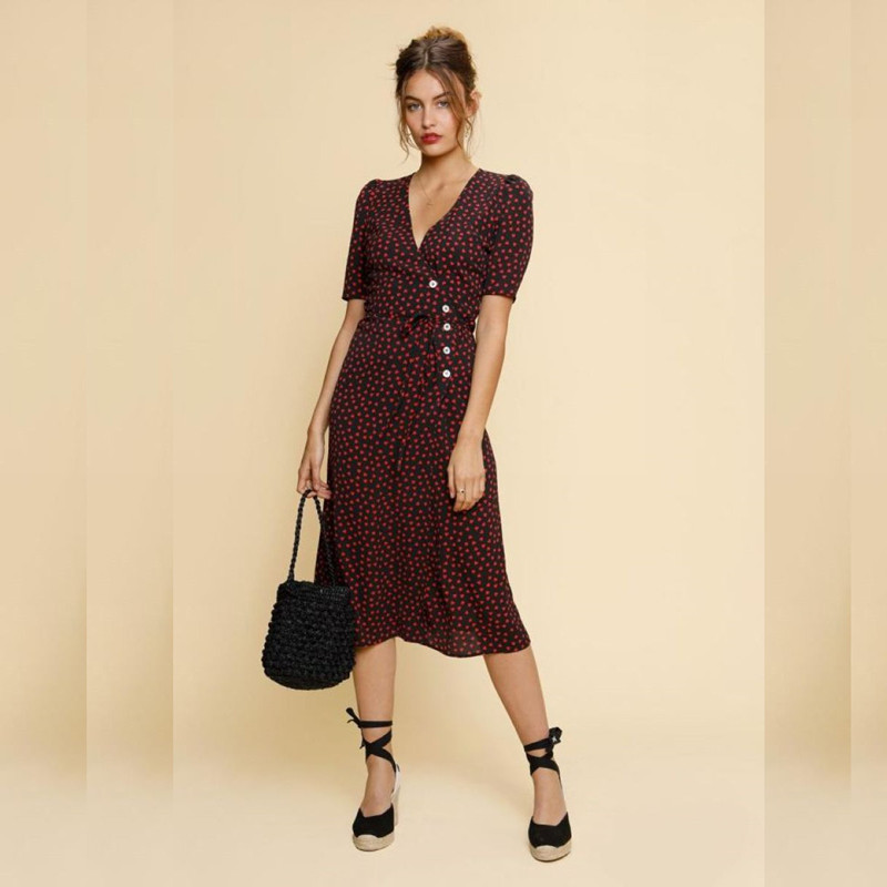 Women s Summer Dress Long Style New 2019 Print Robe Femme Tea Break clothes For Women