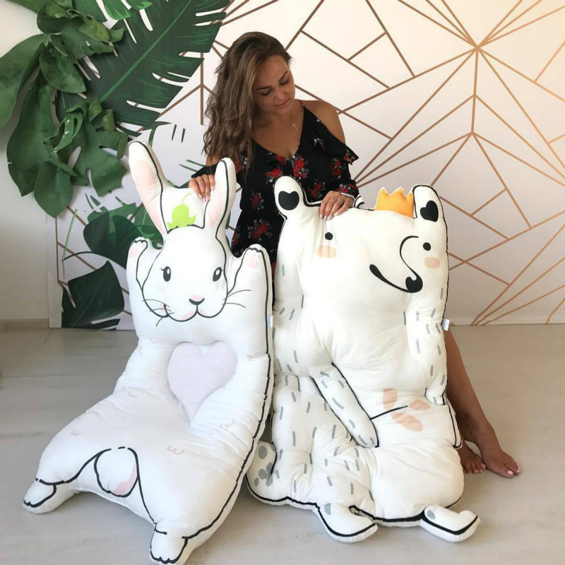 Home floor mattress, baby cotton crawling pad, children rabbit game, raccoon carpet.