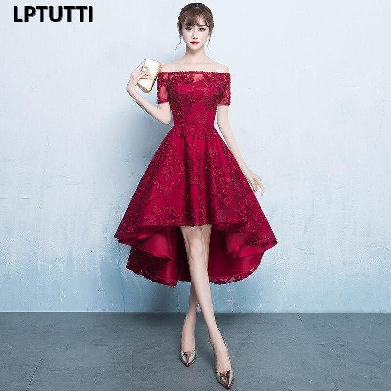 LPTUTTI dentelle bateau cou grande taille nouveau pour les femmes élégant Date cérémonie fête robe de bal formelle Gala luxe longues robes de soirée
