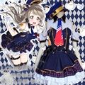 Girls Lady Minami Kotori Policewoman Uniform Dress Anime Love Live Cosplay Awakening Costume with Panier