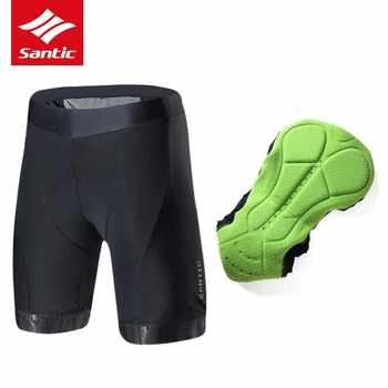 Santic Cycling Shorts Downhill Mountain Road Bike Shorts Pro Breathable Italian Imported Pad MTB Bicycle Shorts Bermuda Ciclismo - DISCOUNT ITEM  31% OFF Sports & Entertainment