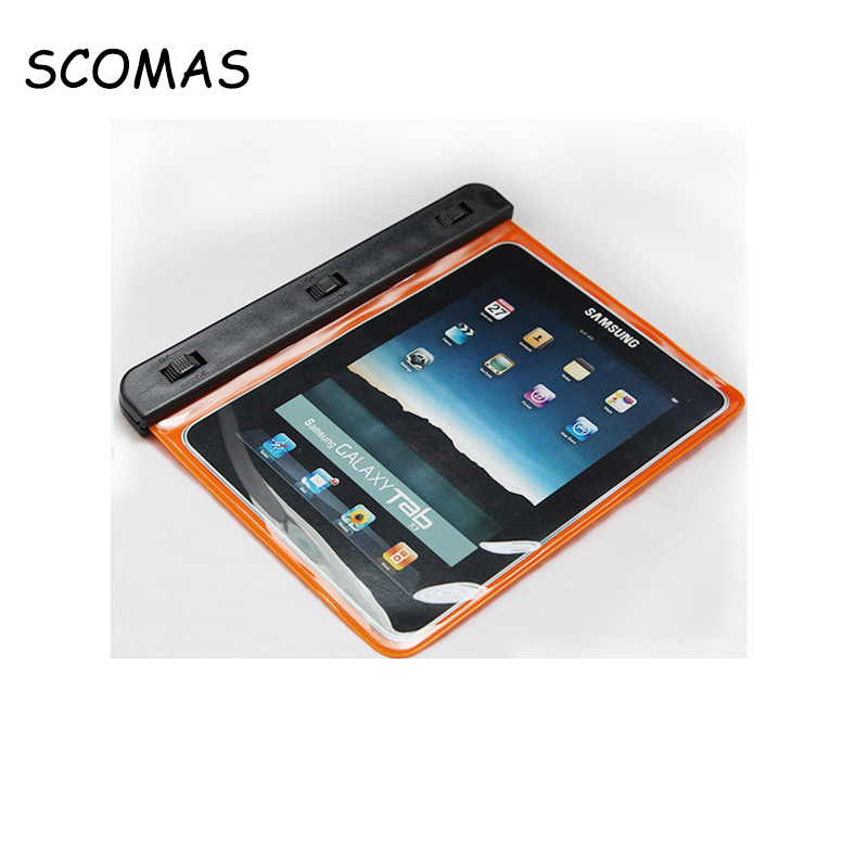 SCOMAS New Protective Shell WP-120 Waterproof Bag Case for Tablet PC 7.0-7.7 inch Depth 10M IPX8 Orange Color