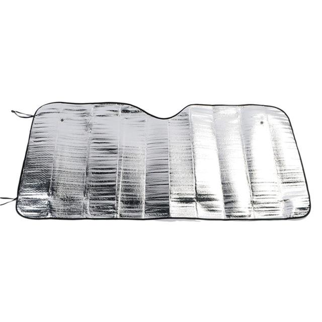 Front Windshield Car Window Foldable Sun Visor Shade Shield Cover Block  Accessories Silver Color Foam 7736da75066