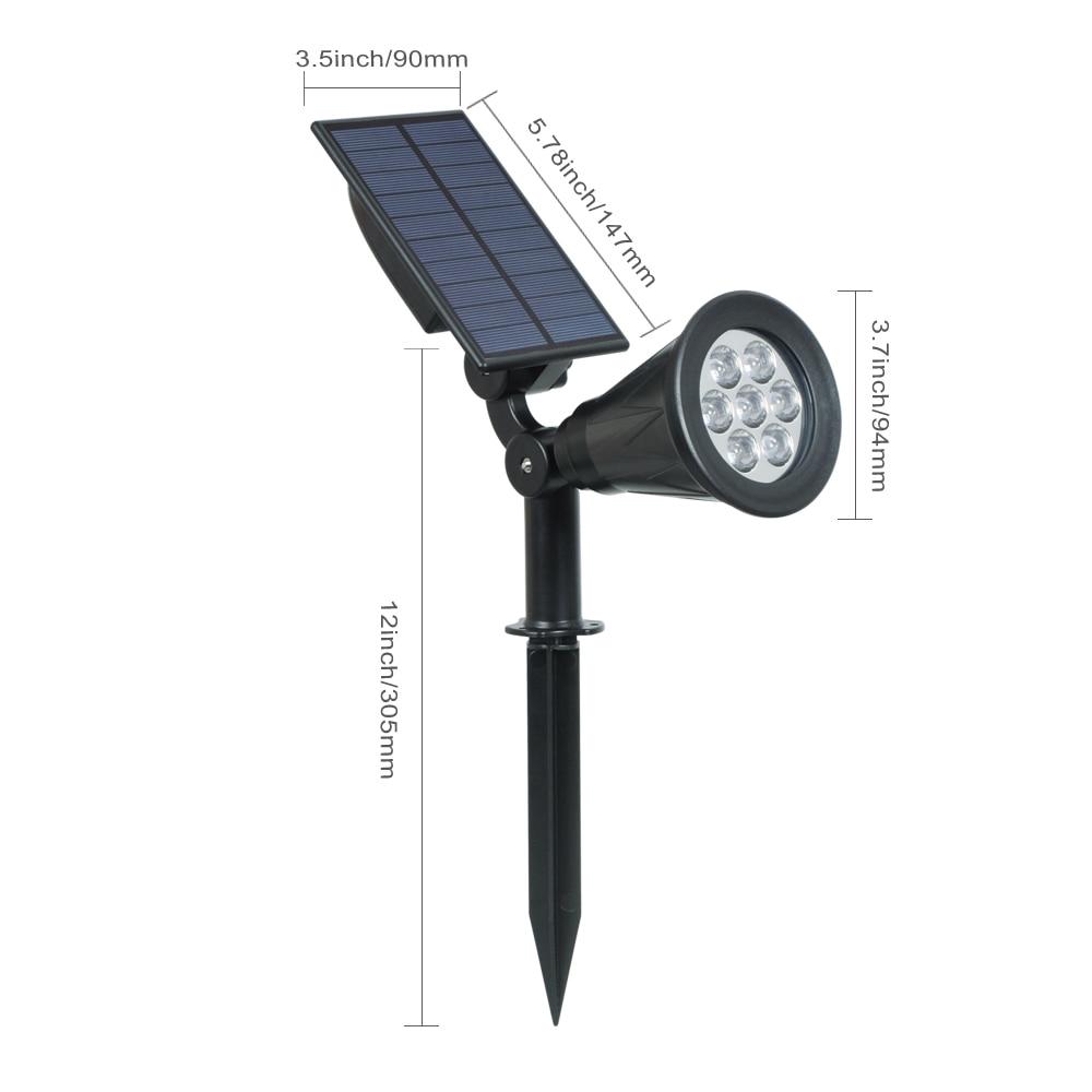 T-SUNRISE 2 paket Solar Powered Garten Scheinwerfer Weihnachten ...