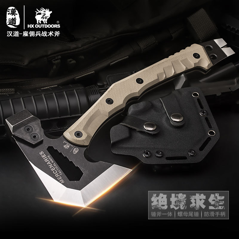 HX OUTDOORS Mercenaries High quality Rescue Multifunctional Explosion-proof Axe Camp Artillery Fire Rescue Axe Hammer image