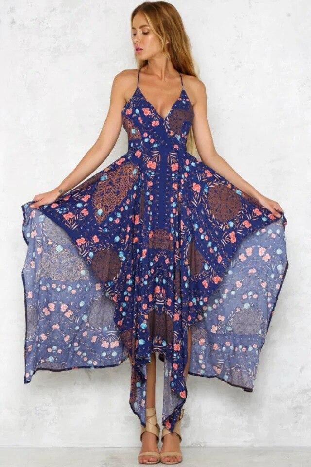 ᐊMUXU vestido de verano flojo vestidos de mujer vestidos de playa ...