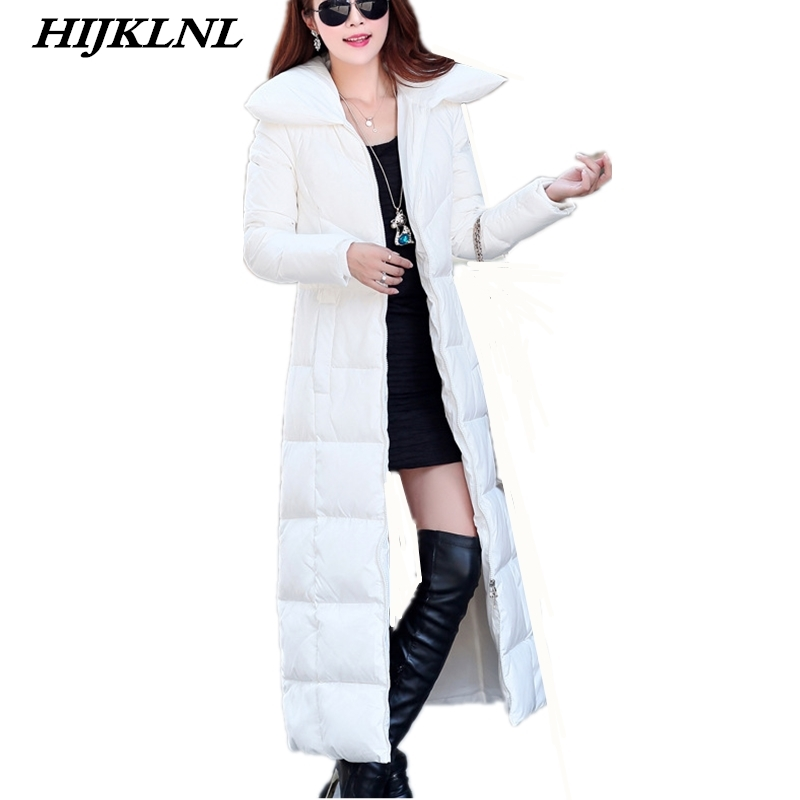 2019 Women Winter   Down     Coat   Slim Temperament Solid Long   Down   Jacket Fashion Warm Outerwear Women Large Size Thicken   Coat   CW079