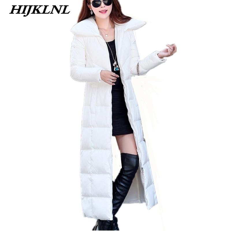 2019 Women Winter   Down     Coat   Slim Temperament Solid Long   Down   Jacket Fashion Warm Outerwear Women Large Size Thicken   Coat   CW079