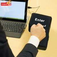 New Style Funny Big Enter Key USB Pillow Office Desktop Supersized Nap Pillow Stress Relief Tool
