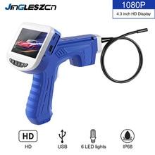 4.3 polegada lcd endoscópio industrial 8mm 1080 p hd micro câmera de inspeção de vídeo para a ferramenta de reparo automóvel serpente endoscópio handheld duro