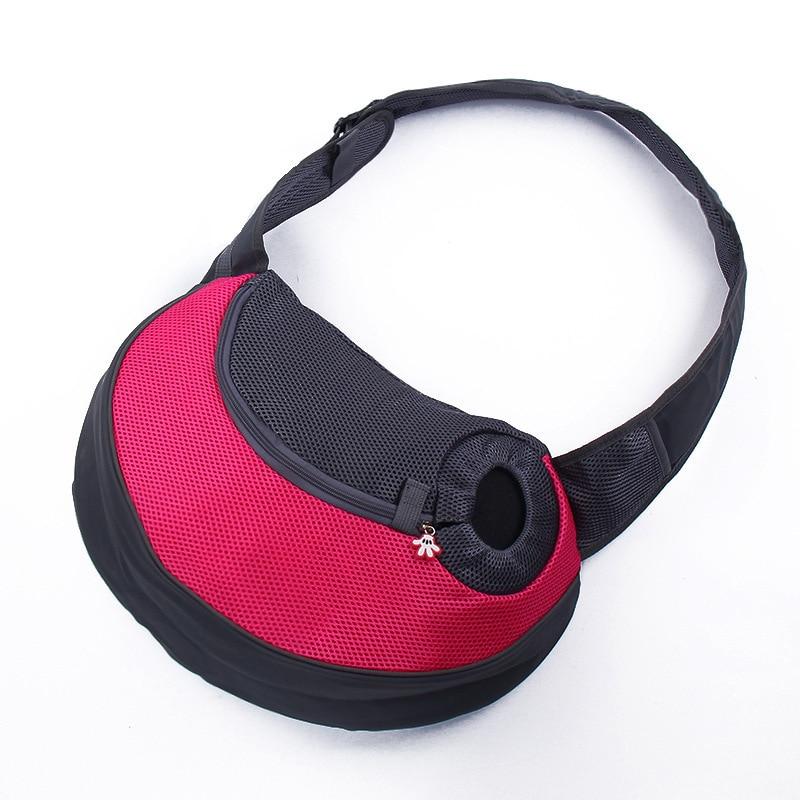 Pet Puppy Carrier Outdoor Travel Handbag Pouch Mesh Oxford Single Shoulder Bag Sling Mesh Comfort Travel