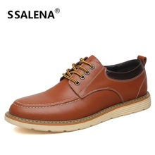 Men Casual Oxfords Shoes High Quality Men Leather Business Shoes Lace Up Breathable Soft Sole Walking Shoes AA20145