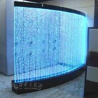 2018 последние индивидуальные пузырь воды стены с освещением и дистанционного Управление светодио дный экраны и декоративные перегородки и