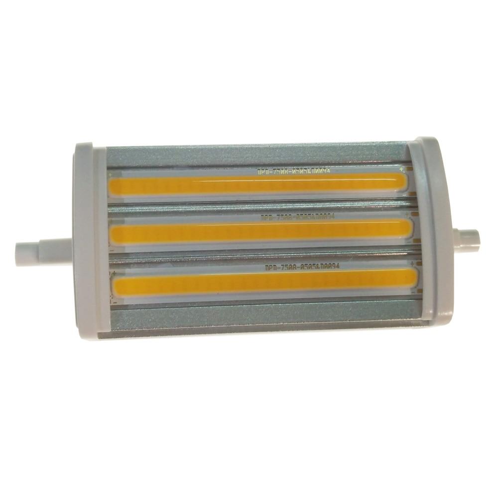 все цены на cob led r7s 118mm dimmable cob 15W Lawn Lamps spotlight Spot Light Bulb light pole warm white cold white онлайн