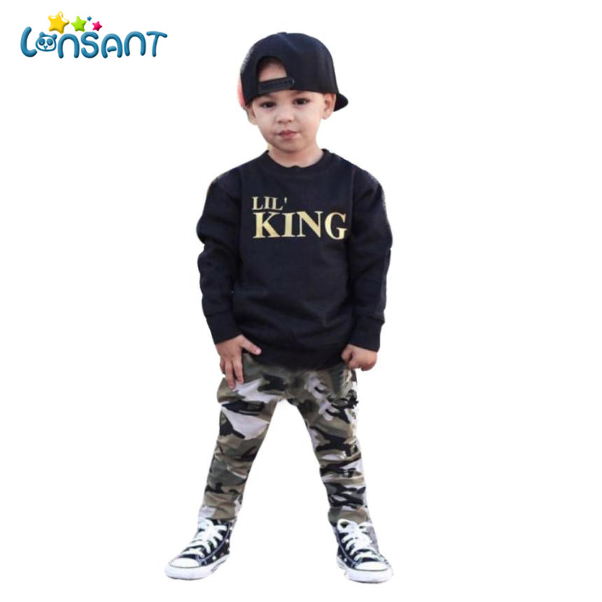 LONSANT Clothing Sets Roupas Infantis Menino Long Sleeve Suit For Boy Winter Fashion Children Sets Kids Clothes Dropshipping D15 ...