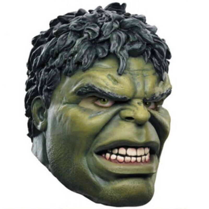 Superhero Hulk Adult Latex Mask Cosplay Costumes Masks Full Face Helmet Halloween