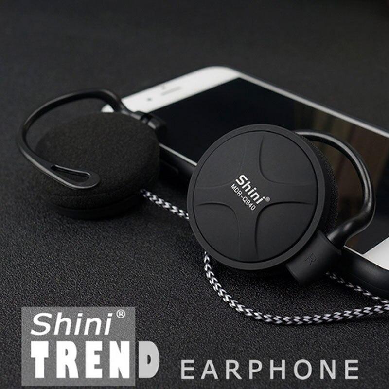 ShiniQ940 Headphones 3.5mm Wired Headset EarHook Super Bass Earphone For Mp3 Player Computer Mobile Telephone Cheap Earphone