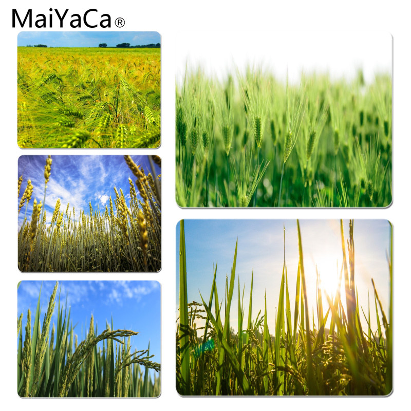 MaiYaCa Wheat ears in the field Customized laptop Gaming mouse pad Size for 18X22CM Speed Version Gaming Mousepads