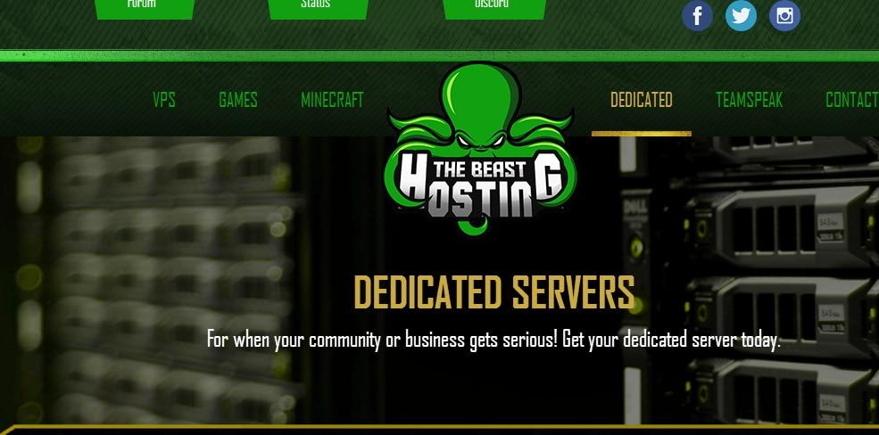 羊毛党之家 TheBeastHosting:$65/月/X5660/32GB内存/240GB SSD硬盘/10TB流量/DDOS/达拉斯