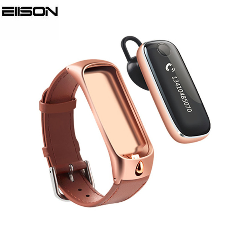 Eiison Smart Talkband Smart Bracelet Fitness Tracker Pedometer Touch Screen with Bluetooth Headset for xiaomi iphone
