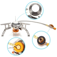 Outdoor Picnic Gas Stove Foldable Ignition Large Power Camping Mini Stove With Case Camping Hiking Essentials
