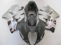 Free 7 Gifts Fairing Kit For Suzuki GSXR1300 96 97 98 99 00 01 07 Silver