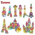 TUMAMA Magnetic Building Blocks toys 46PCS Enlighten Magnetic Designer for Children Square Triangle 3D DIY Kids Educational Toy