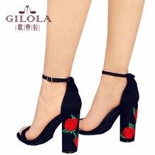 Мода На Высоких Каблуках Полые Открытым Носком Женщины Насосы Женская Обувь Вырезами Обувь Весна Лето Стилет Цветы Женской Обуви # Y0613720Q