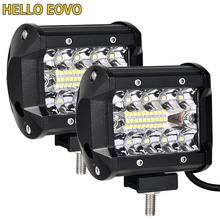 2 adet 4 inç LED çubuk LED iş lambası şeridi sürüş Offroad tekne araba traktör kamyon 4x4 SUV ATV 12V 24V anma 60W gerçek 15W