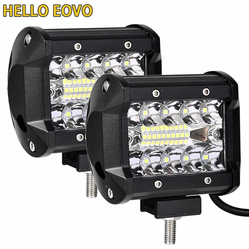 4 インチ LED バー Led ワークライトバー駆動オフロードボート車トラクタートラック 4 × 4 SUV ATV 12V 24V 定格 60 ワット実際の 15 ワット