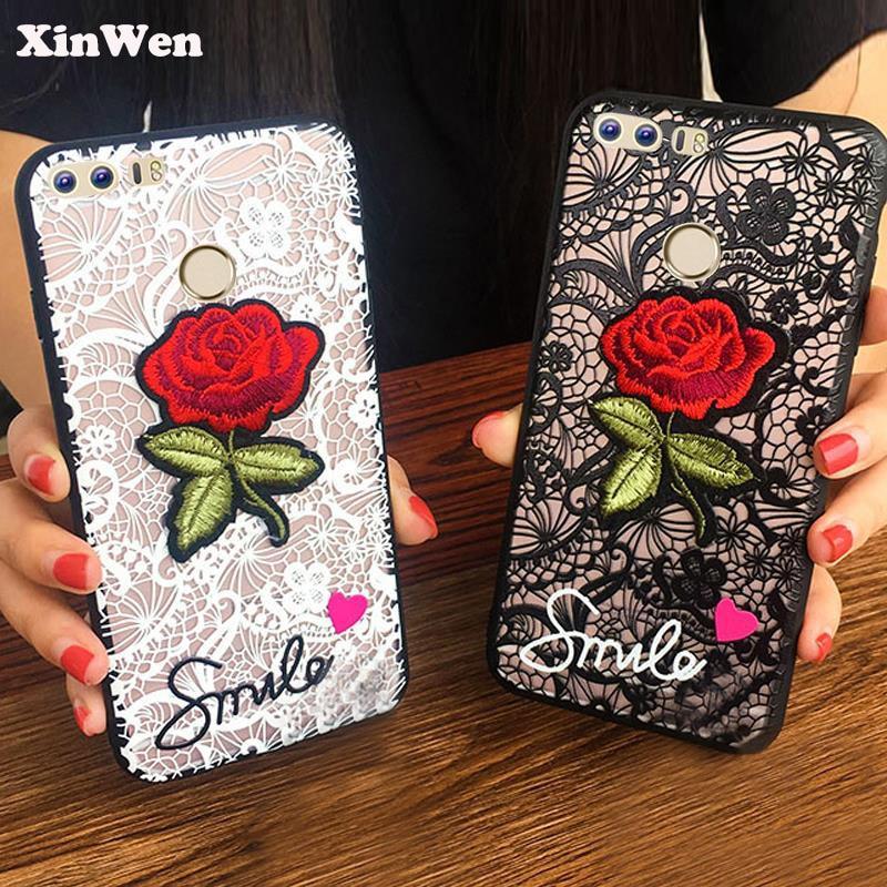 Angepasste Hüllen Ehrlich Xinwen Luxus Cute Fashion 3d Rose Blume Pc Telefon Abdeckung Coque Fall Für Huawei Honor 8 Honor8 Sexy Frau Spitze Zurück Zubehör