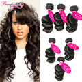 Peruvian Virgin hair Loose Wave 3 Bundles Cheap Human Hair Extensions Peruvian Hair Loose Curly Virgin Hair Wet And Wavy Weave