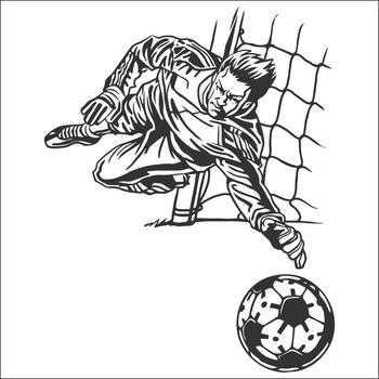 DCTAL CHM-Portero de fútbol etiqueta engomada del jugador Deportes futbol etiqueta del coche cascos nombre de la habitación 1245
