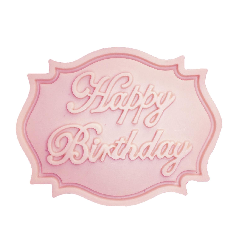M0070 Feliz Cumpleaños forma de Carta de silicona molde fondant de - Cocina, comedor y bar - foto 4
