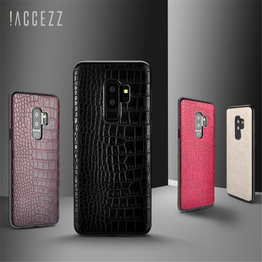 ACCEZZ Luxury Ultra Thin Soft Case For Samsung Galaxy S8 S9 Plus Note8 PC PU Leather Fashion Protective Phone Back Cover Conque in Fitted Cases from Cellphones Telecommunications