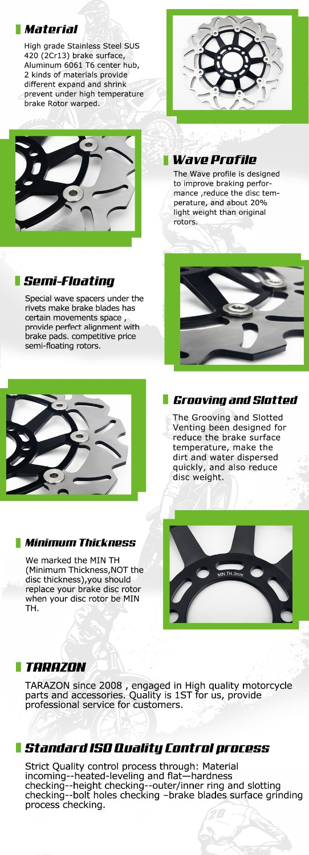 BIKINGBOY Front Rear Brake Discs Disks Rotors Pads For Suzuki GSXR 600  97-03 GSX-R 750 2000 2001 2002 2003 TL1000S 1997-01 98 99
