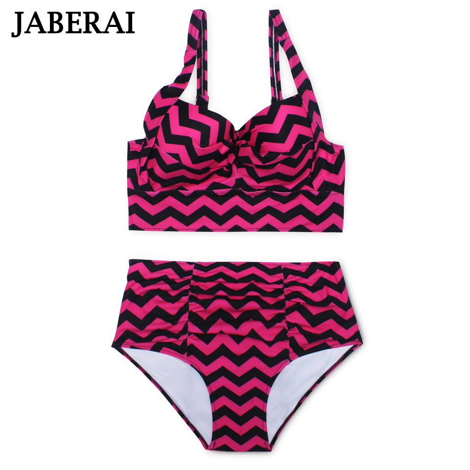 514d1063803 JABERAI Push Up Bikini women Plus Size Swimsuit Green High Waist Bikini Set  Bandeau Swimwear Bathing
