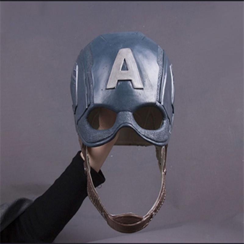 DC Movie Captain America Role Playing Mask Latex Full Head Face Helmet Death Serve Cosplay Costumes Party Mask Adult